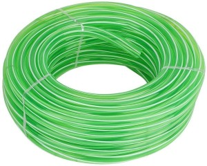 FORTUNE Garden Water Pipe Garden Hose, Car Wash Water Pipe, PVC Pipe - 0.5 inch / 5 meter long ( Color May Vary ) with hose Hose Pipe