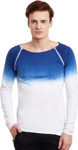 Fugazee Lifestyle Printed Men's Boat Neck Blue, White T-Shirt