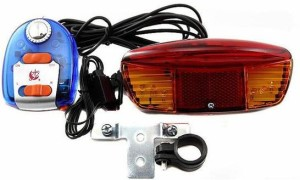 FurMito 3 In 1 Bicycle Bike Turn Indicator Signal Brake Tail rear 7 LED Light With Electric Bell