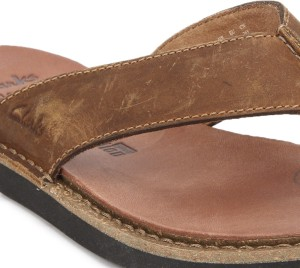 41b69dda2 Clarks LYNTON POST TAN LEATHER Flip Flops Best Price in India ...
