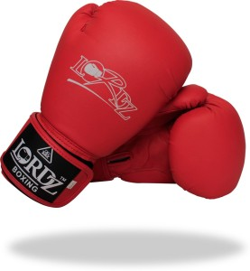 Lordz Leather Competition Fight Boxing Gloves (XL, Red, Blue)