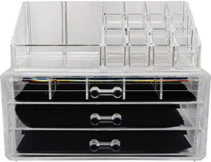 Evana Acrylic Makeup Box Different Compartments Makeup And Jewellery
