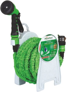 AquaHose Expandable Magic Green Hose Reel 15mtr (Fixed Type) Hose Pipe