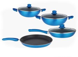 NIRLON Forged Non-Stick Aluminium Induction Based Cooking Set Tawa, Pan, Kadhai, Pan Set