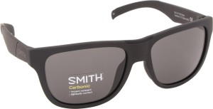 7bea71e8e6 SMITH LOWDOWN SLIM N DL5 543G Rectangular Sunglasses ( Black )
