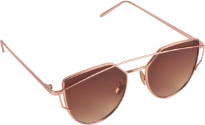 dce966c51c Aligatorr Double Shade Classic Rectangular SunglassesBrown