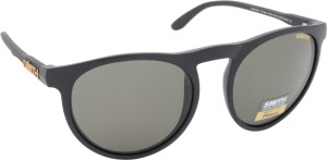 bc2510a35a0fa SMITH MARVINE PK DL5 52IN Oval Sunglasses Grey Best Price in India ...
