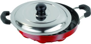 Omic Classic Range 12 Cavities Premium Appam Patra With Lid Pan 23 cm diameter