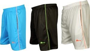 sampy Solid Men & Women Black, Light Blue, White Sports Shorts, Gym Shorts