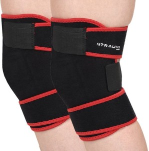 58ad9cfd2 Strauss Adjustable Pair Knee Support Free Size Black Red Best Price in  India