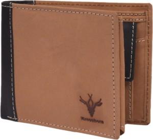 Krosshorn Men Tan Genuine Leather Wallet