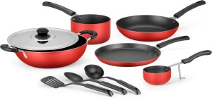 IDEALE 9 Pcs Non- Stick Aluminium Cookware Set Cookware Set
