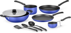 Ideale 9 Pcs Non Stick Aluminium Cookware Set -OCEAN BLUE Cookware Set