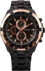 curren 8023-Gold-waterproof Analog Watch  - For Men