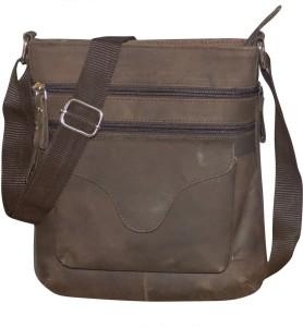 b80bd49ecd12 Kan Hunter Leather Crossbody Bag Travel Pouch Sling Bag for Men   Women 7