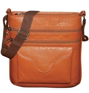 abfcbee883d7 Kan Men Women Tan Genuine Leather Messenger Bag Best Price in India ...