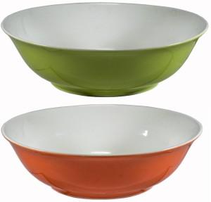 La Platina Color Bowl 2 Pcs Set Porcelain Bowl Set