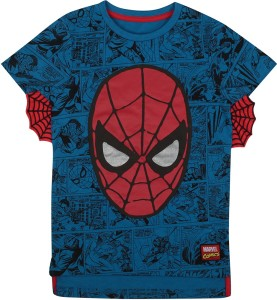 6fb37422a DISNEY Boys Graphic Print Cotton T Shirt Blue Pack of 1 Best Price ...
