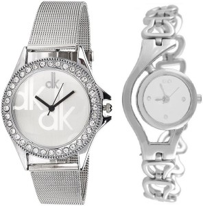 ReniSales NEW BEAUTIFUL FASHION SILVER COMBO OFFER LATEST SOLO DESIGNER DEAL Analog Watch  - For Girls