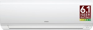 Hitachi 1 Ton Inverter (5 Star) Split AC  - White