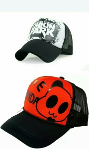 9f46f7b6022 Friendskart 2 Half Net Cap Front Side Printed Linking Park And I love Panda  For Boys