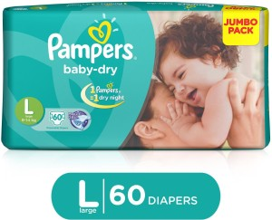 Pampers Baby Diapers - L