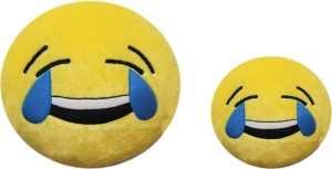 RMA Laughing Tears Whats App Emoji Combo of 2- Medium(35cm) & Small (22cm)  - 35 cm