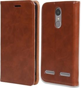 cheap for discount 04661 5c096 jkobi Flip Cover for Lenovo K6 PowerWooden Leather