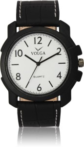 Volga VLW050013 Casual Leather belt With Designer Stylish Branded Fancy box Analog Watch  - For Men