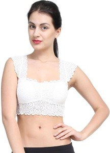 2088cf0ae9f56 KavJay Readymade Blouse cum Bra padded with soft cups Women s Bralette  White Bra