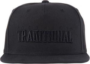 2e0ad9af54f HAUL APPAREL NOTHING TRADITIONAL 3D EMBROIDED BLACK SNAPBACK Cap ...