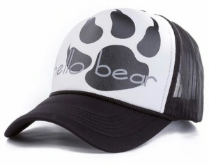 43e365d43aa Friendskart Half Net In Baseball Style Front Side Printed Hello Bear In  White For Girls And Boys Cap Best Price in India