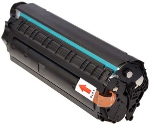 PRASH 12A Black Toner Cartridge Q2612A, Compatible for HP LaserJet - 1010, 1012, 1015, 1018, 1020, 1022, 1022n, 3020, 3030, 3050, 3052, 3055, M1005, M1319f Single Color Toner (Black) Single Color Toner