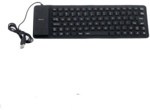 ReTrack Lightweight Ultra-Slim Portable Flexible Foldable Silent Silicon Wired USB Tablet Keyboard