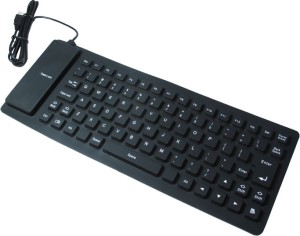 ReTrack Portable Flexible Silicone Foldable Waterproof Wired USB Tablet Keyboard