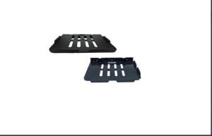 SBD™ BLACK-Pack Of 2 Plastic Wall Shelf