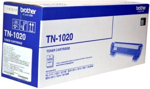 Brother TN 1020 Black Toner cartridge use Brother HL-1111/1201/1211W/DCP-1511/1514/1601/1616NW/MFC-1811/1814/1911NW. Single Color Toner