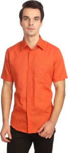 Reevolution Men Solid Casual Orange Shirt
