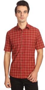 Reevolution Men Checkered Casual Red Shirt