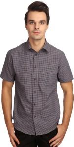 Reevolution Men Checkered Casual Blue Shirt