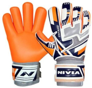 NIVIA Dominator Football Gloves Football Gloves (M, White, Blue, Orange, Grey)