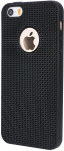 Wow Imagine Back Cover for WOW Imagine(TM) Heat Dissipation Hollow Thin Soft TPU Back Case Cover for Apple iPhone 5 / 5S / 5 SE - Black, Apple iPhone 5S
