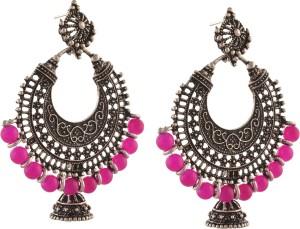 Zephyrr Fashion German Silver Pierced Chandbali Jhumki Earrings for Girls Alloy Dangle Earring