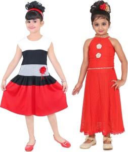 FTCBAZAR Girls Midi/Knee Length Casual Dress