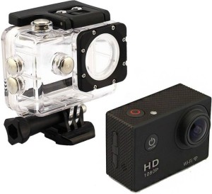Doodads Action Pro Waterproof Helmet camera 2 inch LCD Display Full-HD (Black) Sports and Action Camera
