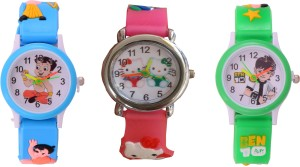 Zest4Kids Ben10,Kitty and CB Analog Watch  - For Boys & Girls