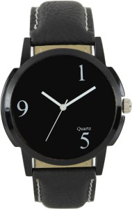 Shivam Retail Black Dial Casula Looking genuine Leather Analog Watch  - For Boys