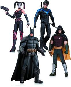 DC Collectibles Arkham City Batman, Harley, Nightwing, Robin Action Figure (4 Pack)