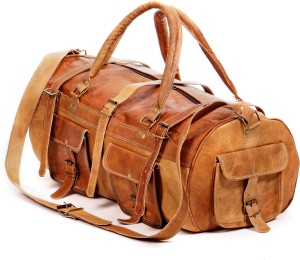Pranjals House genuine leather gym bag Travel Duffel Bag