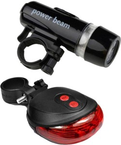 FurMito Power Beam Front and 2 Laser LED Front Rear Light Combo